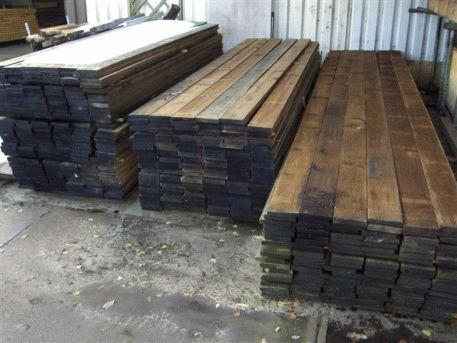 Gebruikte houten vloerplanken